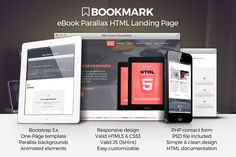 Bookmark - eBook Landing Page by DesignWP on Creative Market