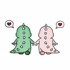 Couple Wallpaper, Cute Disney Wallpaper, Kawaii Wallpaper, Cute Cartoon Wallpapers, Wallpaper Iphone Cute, Dinosaur Art, Cute Dinosaur, Cute Bear Drawings, Dinosaur Wallpaper