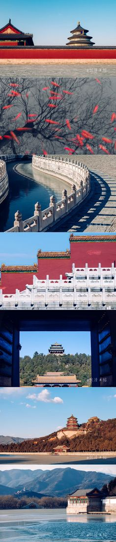 Lines and shapes of the Forbidden City.	#Beijing #China