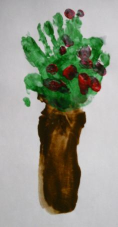 Arm Print Apple Trees from Little Stars Learning