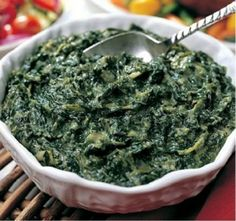Italian spinach and egg - so good, goes really well with spaghetti and meat sauce.  (The Grisanti's recipe is my favorite)