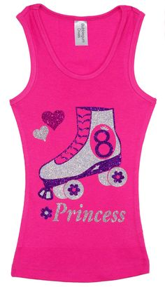 This sparkly shirt is a Skate Party must for the Birthday Girl. Soft cotton-blend fabric, and fun, shimmery design make this tank the perfect