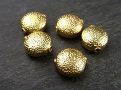 Gold Vermeil Fancy Hammered Bead 10.5mm