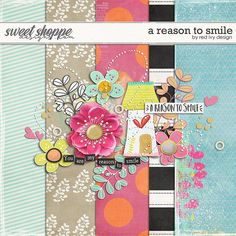 Quality DigiScrap Freebies: A Reason to Smile mini kit freebie from Red Ivy Design