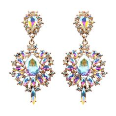 fdc66cce8ef4 Women Drop Earrings Colorful Flower Big Brand Design Luxury Starburst  Pendant Crystal Stud Gem Statement Earrings Jewelry Gifts Review. Luna  Goehring