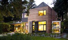 Modern Residential Design at Ellis Residence by Coates Design Tiny House Design, Modern House Design, Residential Architecture, Interior Architecture, Residence Architecture, Building Architecture, Interior Design, Seattle Homes, Wooden House