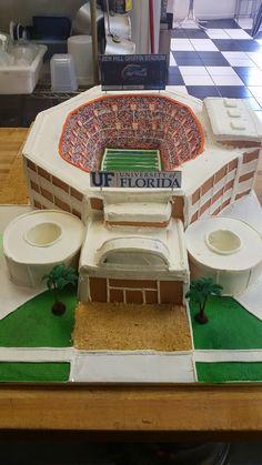 Cookie Jar Bakeshop I Custom Cakes I Grooms Cake I Ben Hill Griffin Stadium Grooms Cake I Gator Themed Grooms Cake