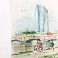 Frankfurt Frankfurt, Drawings, Painting, Art, Art Background, Painting Art, Kunst, Sketches, Paintings