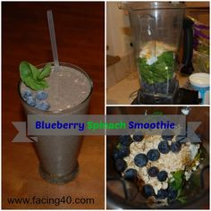 Healthy, Delicious and Ugly: Blueberry Spinach Smoothie Recipe