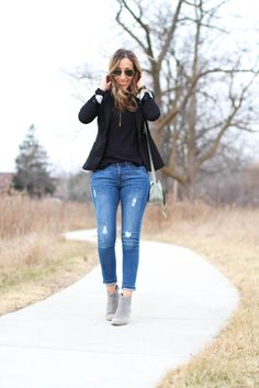 Blazer and Jeans ~ Lilly Style