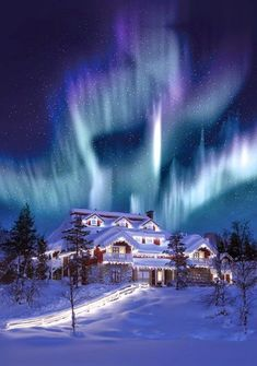 Hotel and Igloo Village Kakslauttanen - Lapland, Finland!love this awesome aurora borealis surrounding the hotel! The Places Youll Go, Places To See, Igloo Village, Beautiful World, Beautiful Places, Beautiful Lights, Stunningly Beautiful, Winter Scenes, Snow Scenes