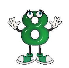 green doll number 8