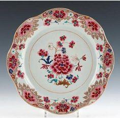 Chine. Compagnie des Indes. Plat rond. XVIIIème siècle...