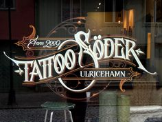 Tattoo Söder window by Martin Schmetzer