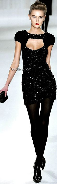 You can never fail with a little black sexy mini  dress!  Elie Saab sexy little black dress and red lips - F/W 2009-2010