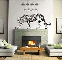 Animal strong Leopard Cheetah wall decal sticker baby kids living room stickers