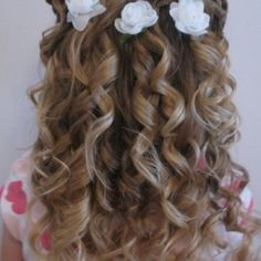 Cute Little Girl Curly Back View Hairstyles