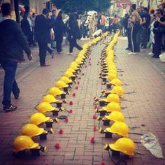 Memorial of dead mine workers. Turkey
