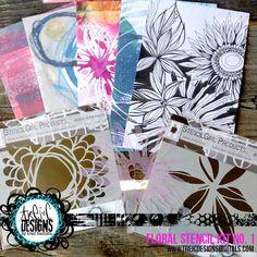 FLORAL stencils + artist paper kits by traci bautista