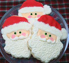 Santa's Face Cookie