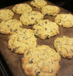 Coconut Flour Chocolate Chip Cookies ~ with coconut sugar instead of the ones listed in the recipe...