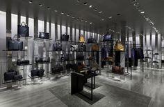Salvatori's Silk Georgette at its perfection in the Giorgio Armani's flagship store in Rome at Via Condotti.