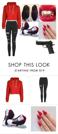 """""""Untitled #8"""" by slim-thick-kaye ❤ liked on Polyvore featuring Boohoo, Topshop and NIKE"""