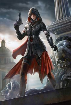 Assassin by Frank Lee on ArtStation. Assasin Female, Assassins Creed Female, Assassins Creed Syndicate Evie, Jacob And Evie Frye, Assessin Creed, Medieval Girl, Steampunk Couture, Batman, Warrior Girl