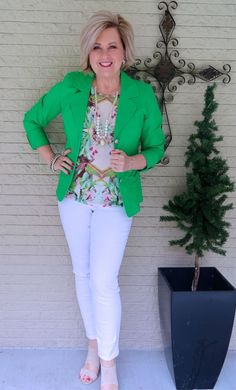 50 is not old how to wear green fashion over Clothes For Women Over 40, Fashion For Women Over 40, 50 Fashion, Green Fashion, Plus Size Fashion, Fashion Outfits, Fashion Trends, Fashion Fall, Fashion Stores