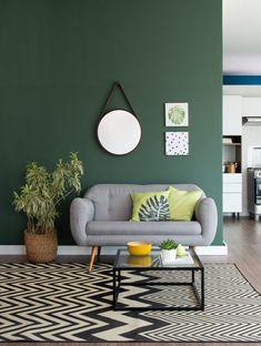 Home Room Design, Home Interior Design, Living Room Designs, Interior Decorating, Living Room Green, Green Rooms, Living Room Decor, Living Room Color Schemes, Home Decor Furniture