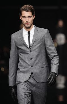 Goal for self: Loose tons of pounds and get into this Hugo Boss suit and maybe also this model? OK well at least the suit ...