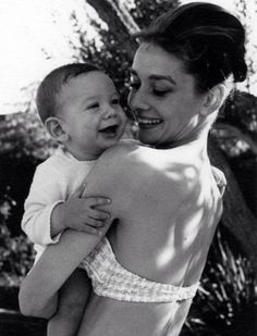 audreyhepburnforever: Such a beautiful photo of Audrey and Sean!