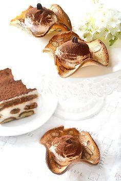 Dolci a go go: Crema tiramisù su cestini Cantumatto(Desideri)