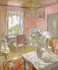 Jean-Edouard Vuillard, La Chambre Rose (The Pink Bedroom), c.1910.