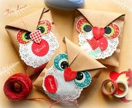 Embalagem de papel de coruja.