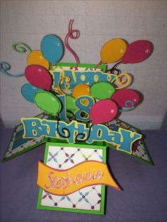 Birthday pop up card I made with my Cricut.
