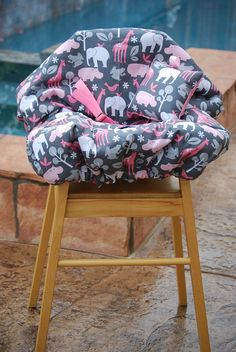 Shopping Cart Cover - shopping Cart Cover for Girl Makes Great Baby Shower Gift -  Zoology in Bloom. $70.00, via Etsy.