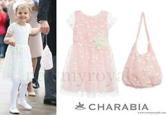 Princess Estelle of Sweden wore Charabia White Embroidered Tulle Dress and Tote www.newmyroyals.com