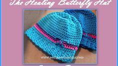 The Healing Butterfly Hat Crochet Pattern