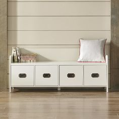 Edwards 4-Drawer Storage Bench