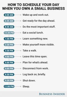 How to schedule your day for maximum productivity when you run your own business