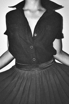 classic blouse skirt combo