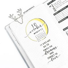 """studyquill: """"october bullet journal set-up! watch my plan with me video here """""""