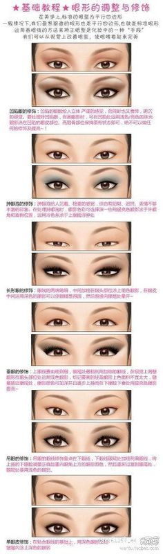 -Jazzy- YES I know it's not in English, but it's a good diagram about how to apply eye makeup based on shape.