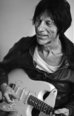 Guitarist Jeff Beck photographed in his London home as part of Scarlet Page's portrait collection of Guitar heroes entitled 'Resonators'. Can be shipped with frame but no glass or rolled in a heavy duty tube. Blues Rock, Rock N Roll, The Yardbirds, Jeff Beck, Music Film, Music Music, Eric Clapton, Senior Girls, Cool Guitar