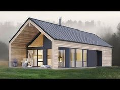Amazing Simple and Elegant Koia Modern Cabin from Norgeshus - Architecture Small Modern House Plans, Modern Barn House, Barn House Plans, Small Modern Cabin, Modern Cabins, Modern Cottage, Small Modern House Exterior, Cabin Plans, Cabin Design