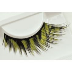 Black & Golden Glitter False Eyelashes