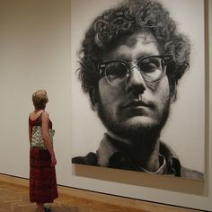 """""""frank"""" by Chuck Close at the MIA....brilliant photo realism! Love it everytime I see it!"""