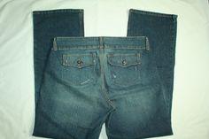 Womens l.e.i. jeans bootcut flap pocket size 16 #lei #BootCut