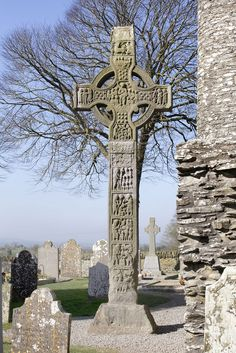 """A History of Ireland in 100 Objects – 34. Tall cross, Monasterboice, late-ninth century - """"This circle may be intended to represent a halo around the figure of Christ, but it can also be seen as a continuation of a much older Irish tradition of representations of the sun."""" beautiful ireland www.downirishroads.co.uk"""